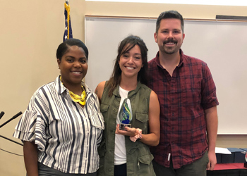 Quill Phillips, College Equity Officer; Andrea Rascón, Academic Coach, TRiO SSS-Traditional; and Michael Roderique, Training Coordinator for Inclusive Excellence.