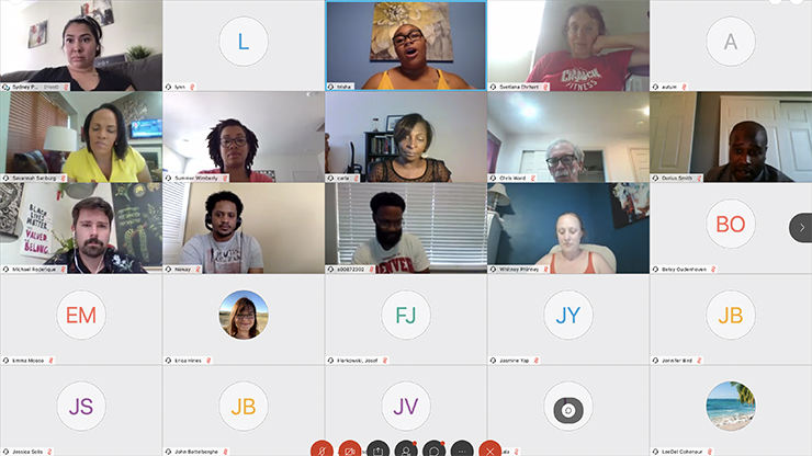 "CCA staff, students, and faculty came together virtually during the ""Black Lives Matter"" Virtual Open Mic"