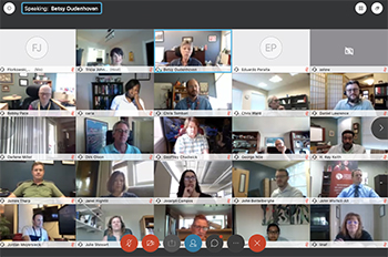 More than 200 people participated in the Campus Kickoff on a Zoom Call