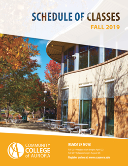 Image of Fall 2019 Schedule