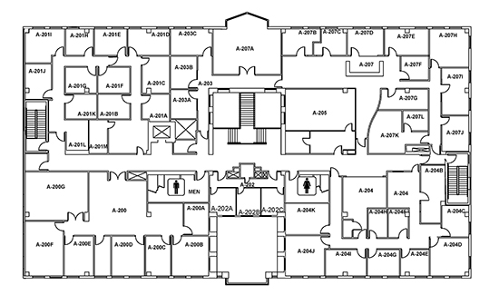 cca centretech campus administration building second floor map