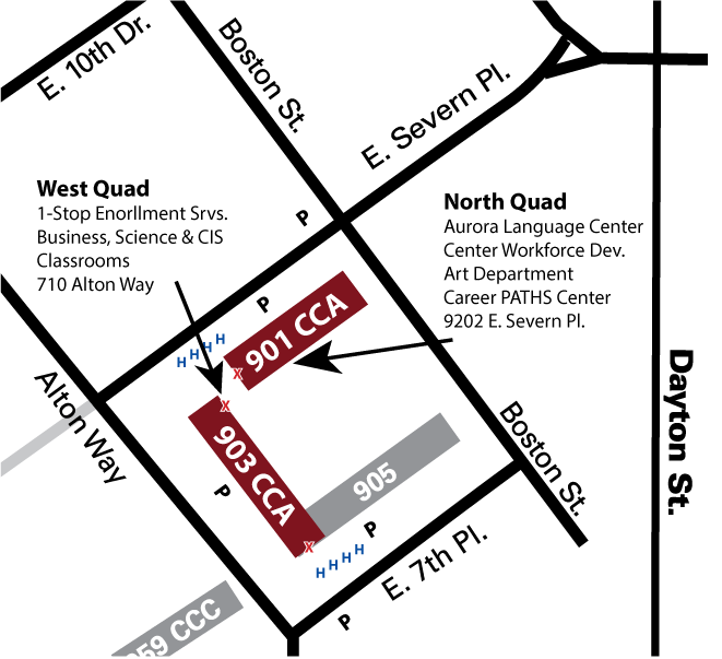 cca lowry campus building 901 location map