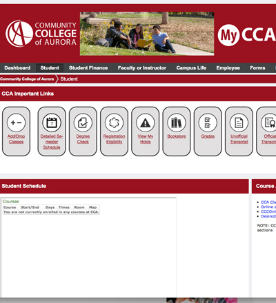 New MyCCA Dashboard