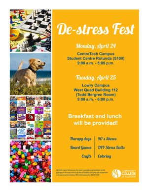 Destress Fest Flyer