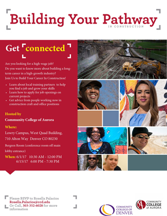 Building Your Pathway in Construction Flyer