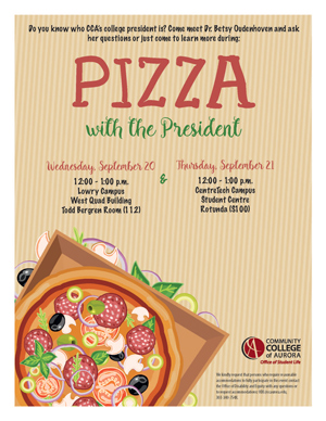 Pizza with the President Flyer