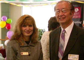 Dr. NaiKwang Chang and Linda Bowman