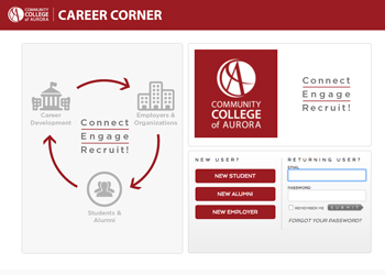 The new Career Services home page