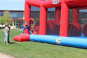 Destress Fest Inflatable Jumper at Lowry Campus