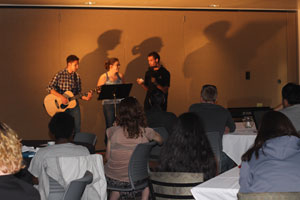 Students performing at the CCA Open Mic Night