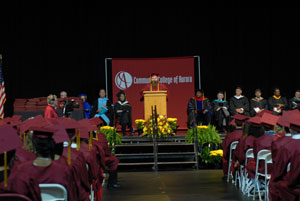 "Sean ""Twich"" Collins speaks at the Commencement Ceremony on May 7"