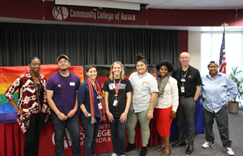 The CCA staff members and students who put on National Coming Out Day