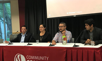 The DACA panel discusses DACA during an event at CCA on September 13.