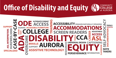Office of Disability and Equity Word Cloud