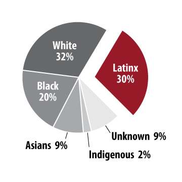30% of students at CCA are LatinX compared with 32% who are white, 20% who are black, and 9% that are Asian