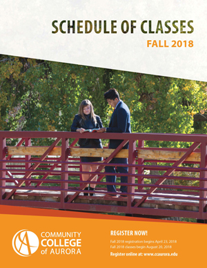 CCA Fall 2018 Schedule Cover Page
