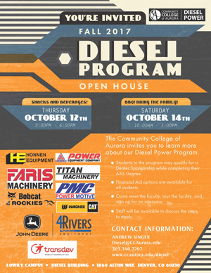 Diesel Program Open House Flyer