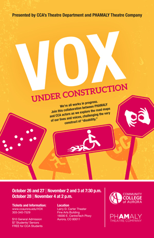 Vox Theater Production Poster