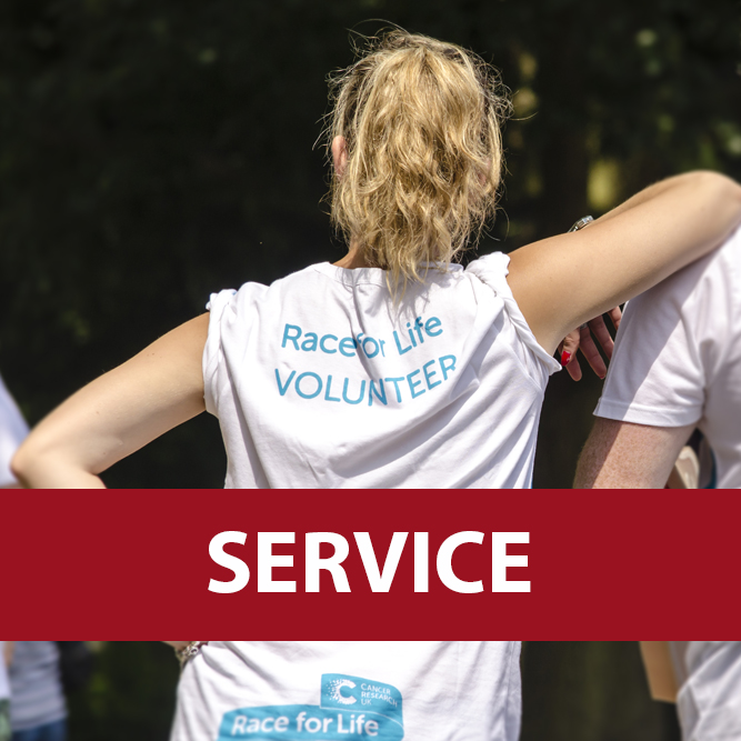 Service with a male and female volunteer