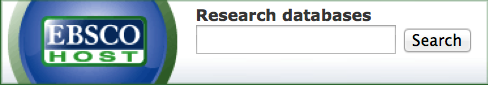 EBSCO search bar