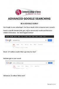 Advanced Google Searching