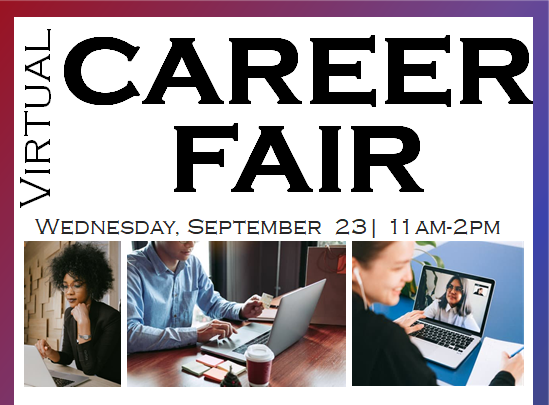 Virtual Career Fair September 23rd from 11am-2pm icon