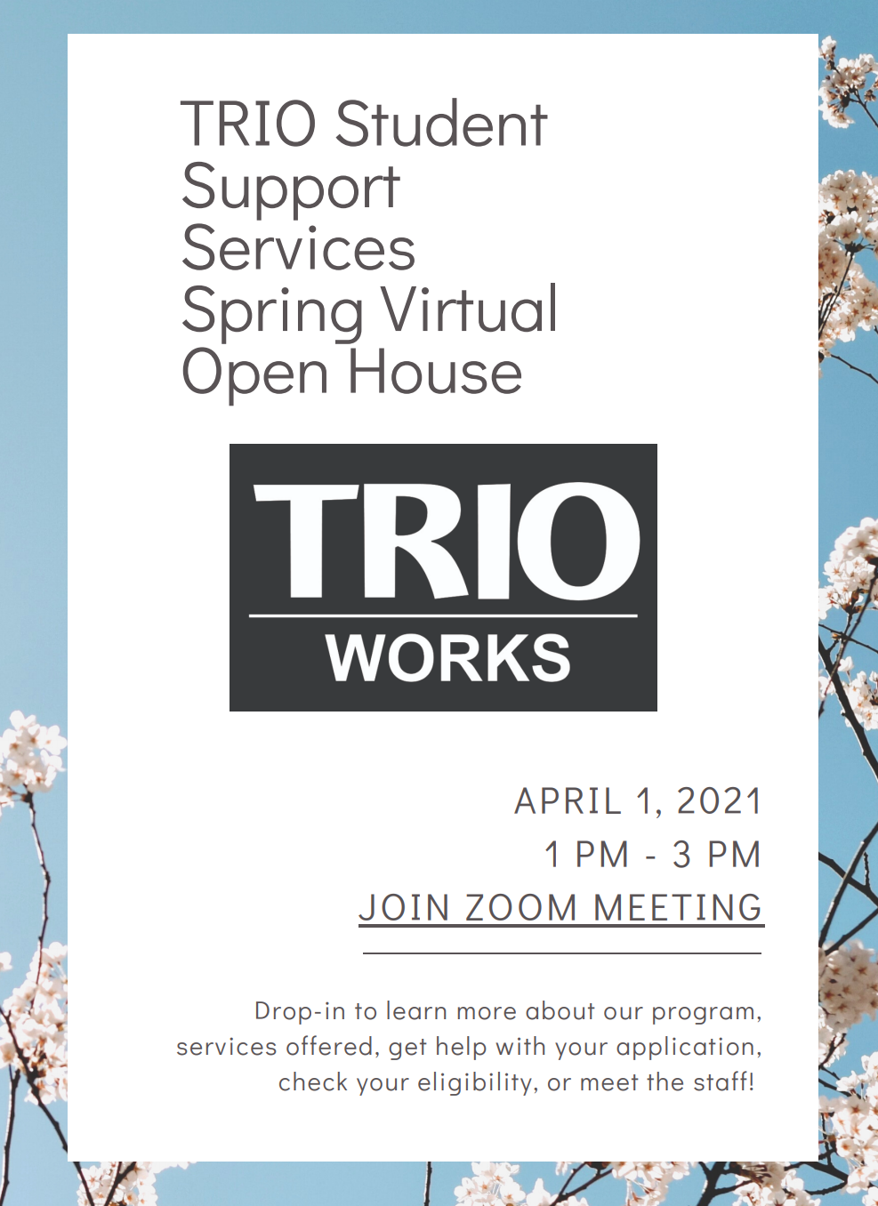 trio open house flyer image