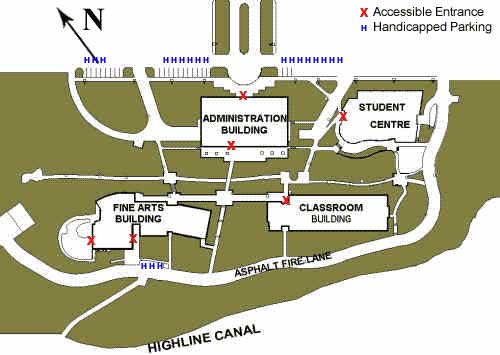 map of accessible parking at centretech campus