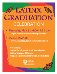Poster for the Latinx Graduation Celebration